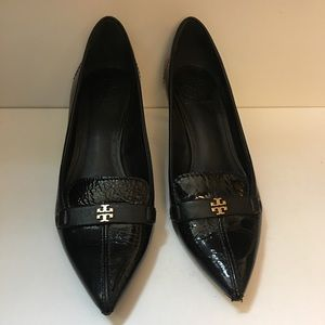 Tory Burch Black Patent Heels #3864-35